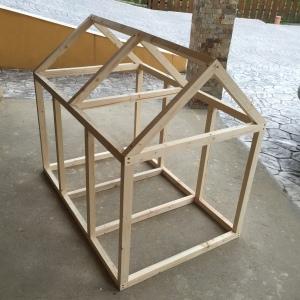 wood dog house frame