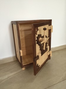 wooden safe